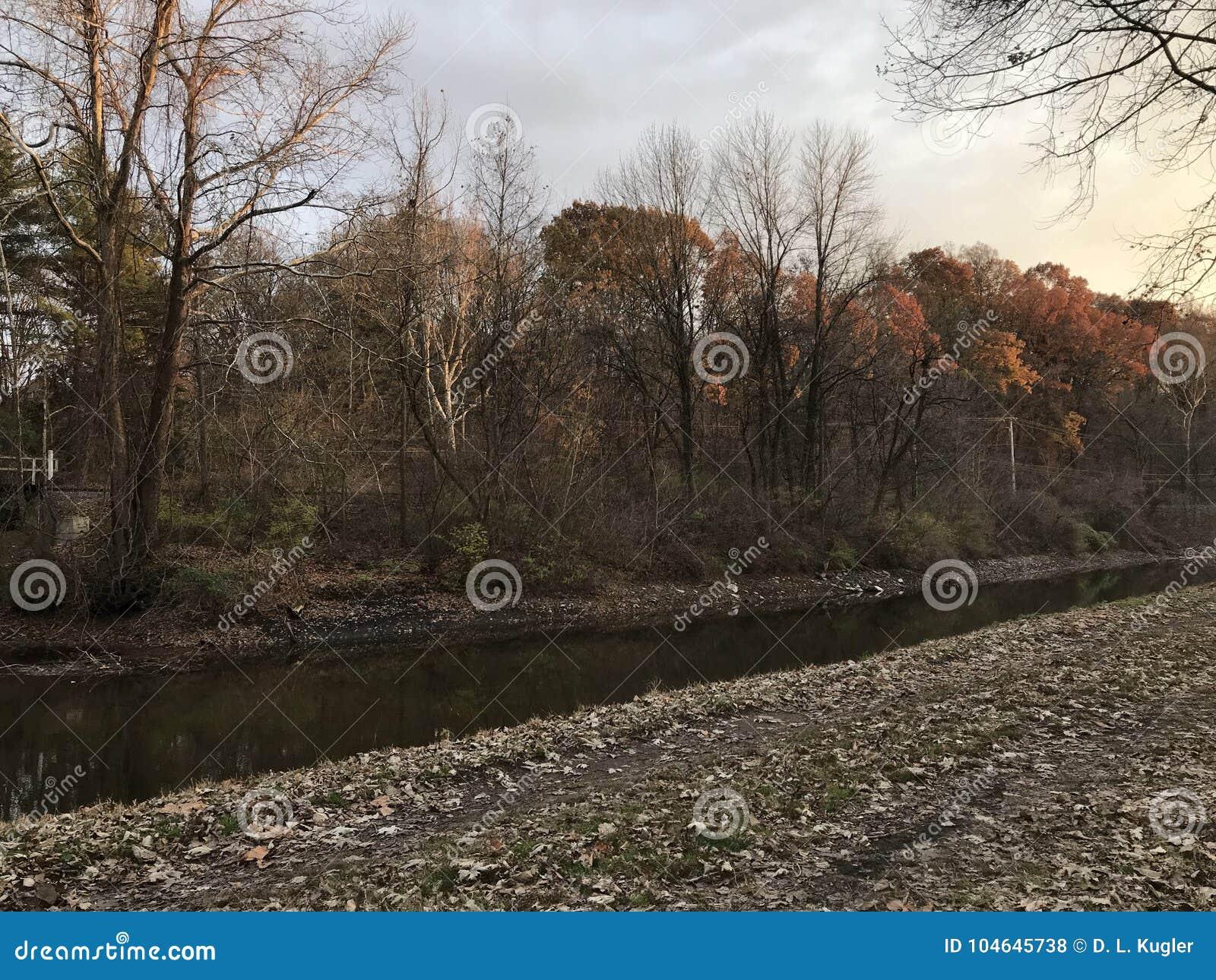 Lehigh Canal And Tow Oath, Easton Pennsylvania USA Stock Photo