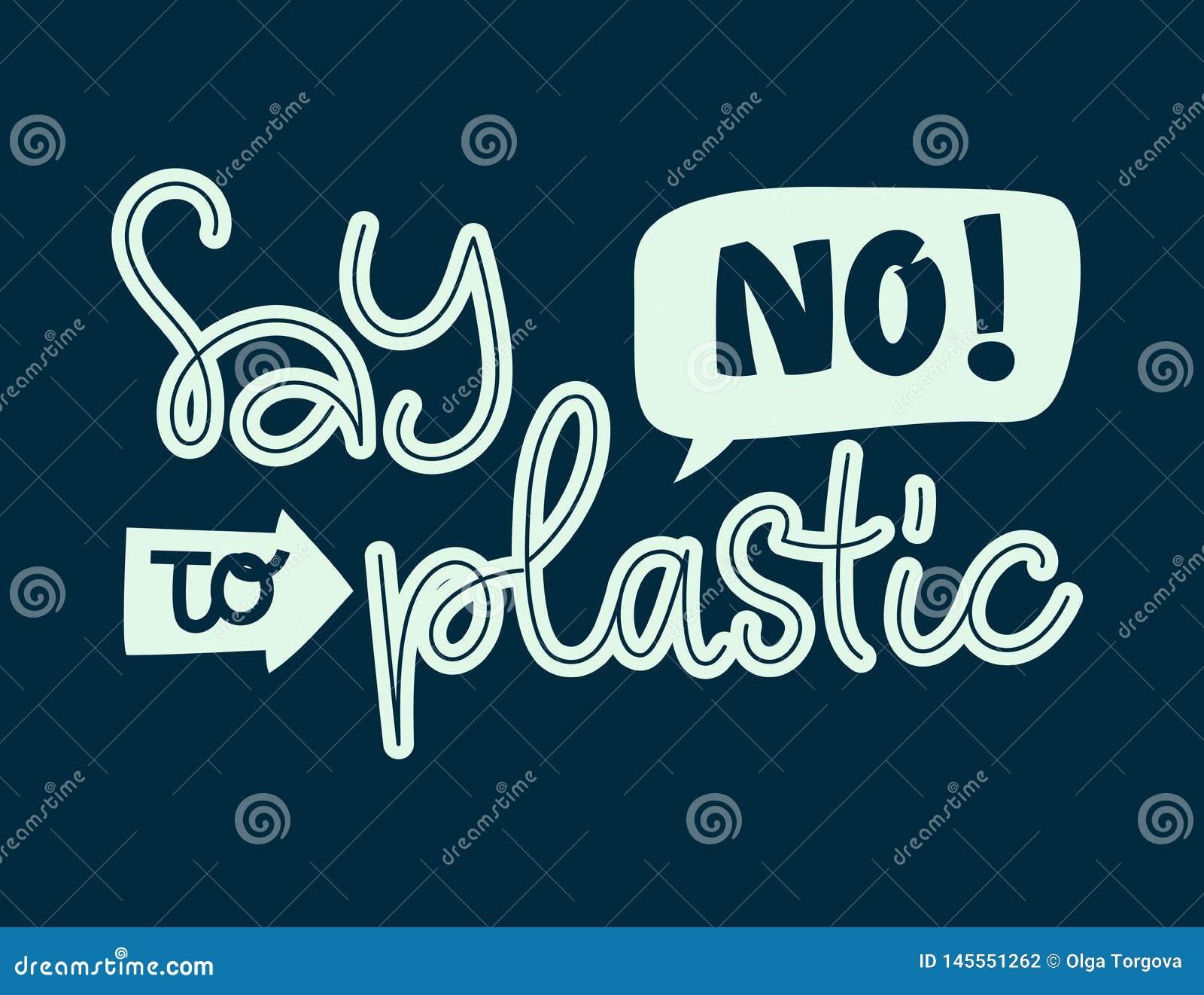 Lehnen Sie Plastiktext - Beschriftungsphrase des Eco-Farbhandabgehobenen betrages ab