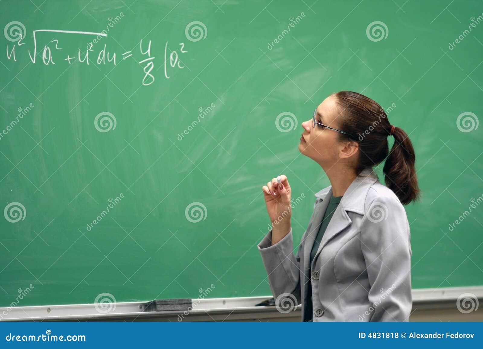 Lehrer und das greenboard