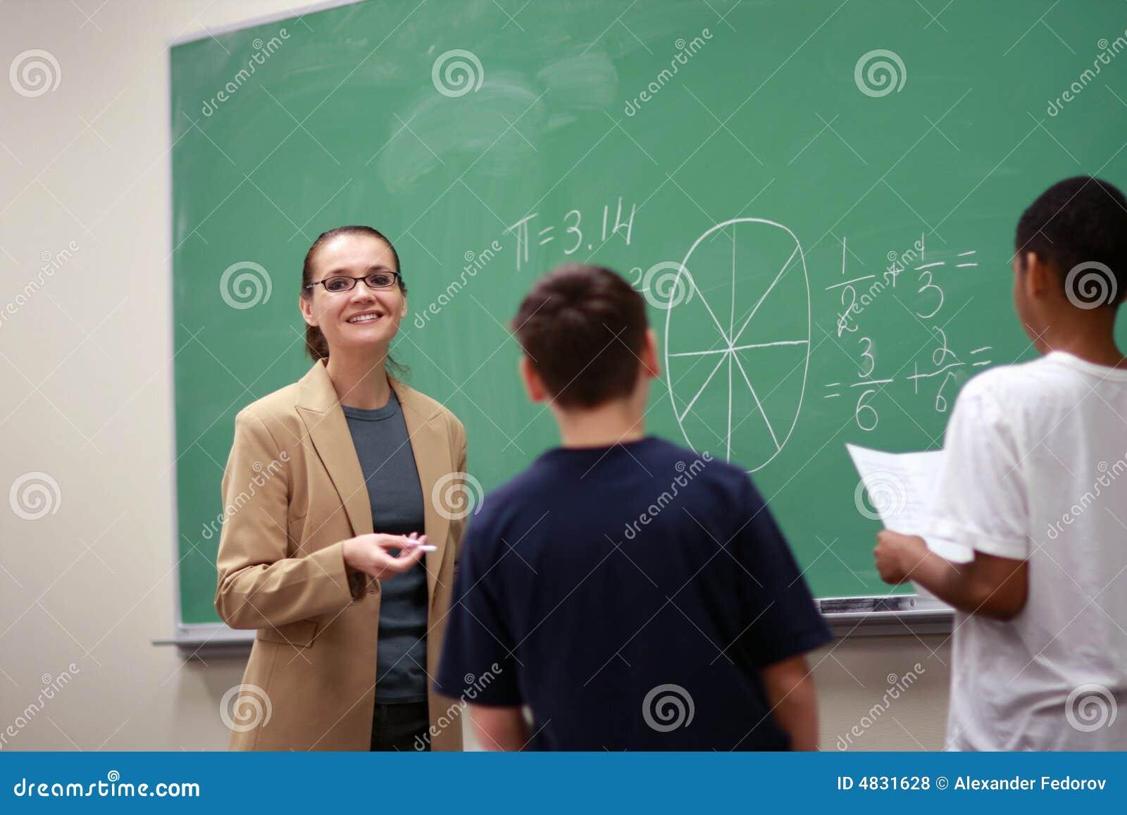 Lehrer und Kinder