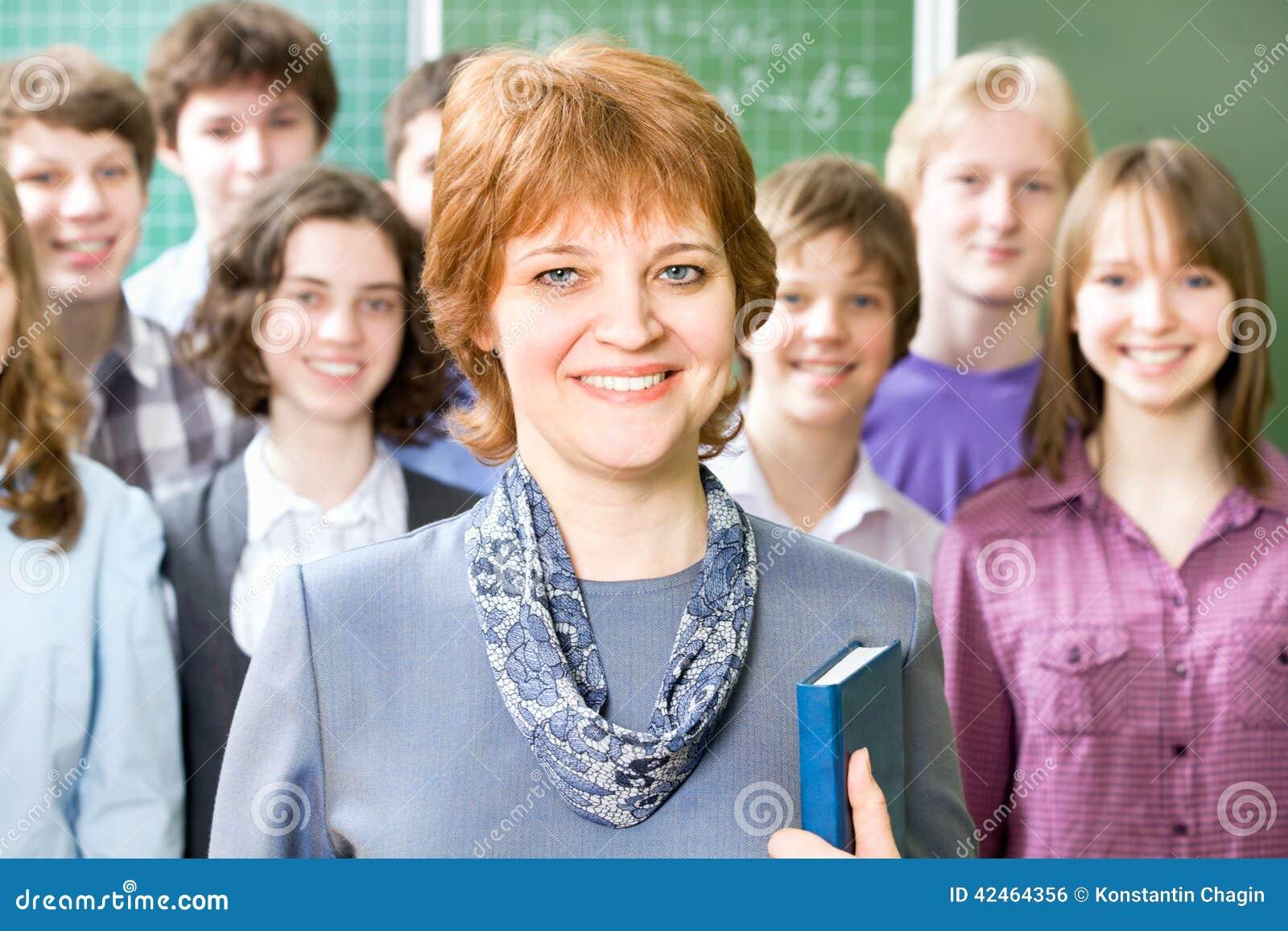 Lehrer und Kursteilnehmer