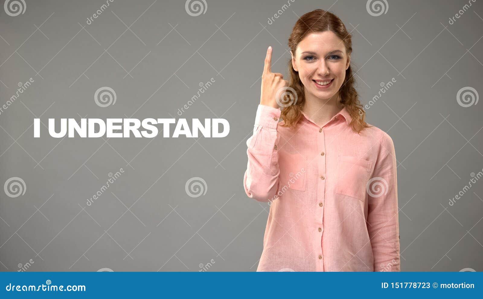 Lehrersprechen I verstehen in asl, Text auf Hintergrund, Kommunikation f?r taubes