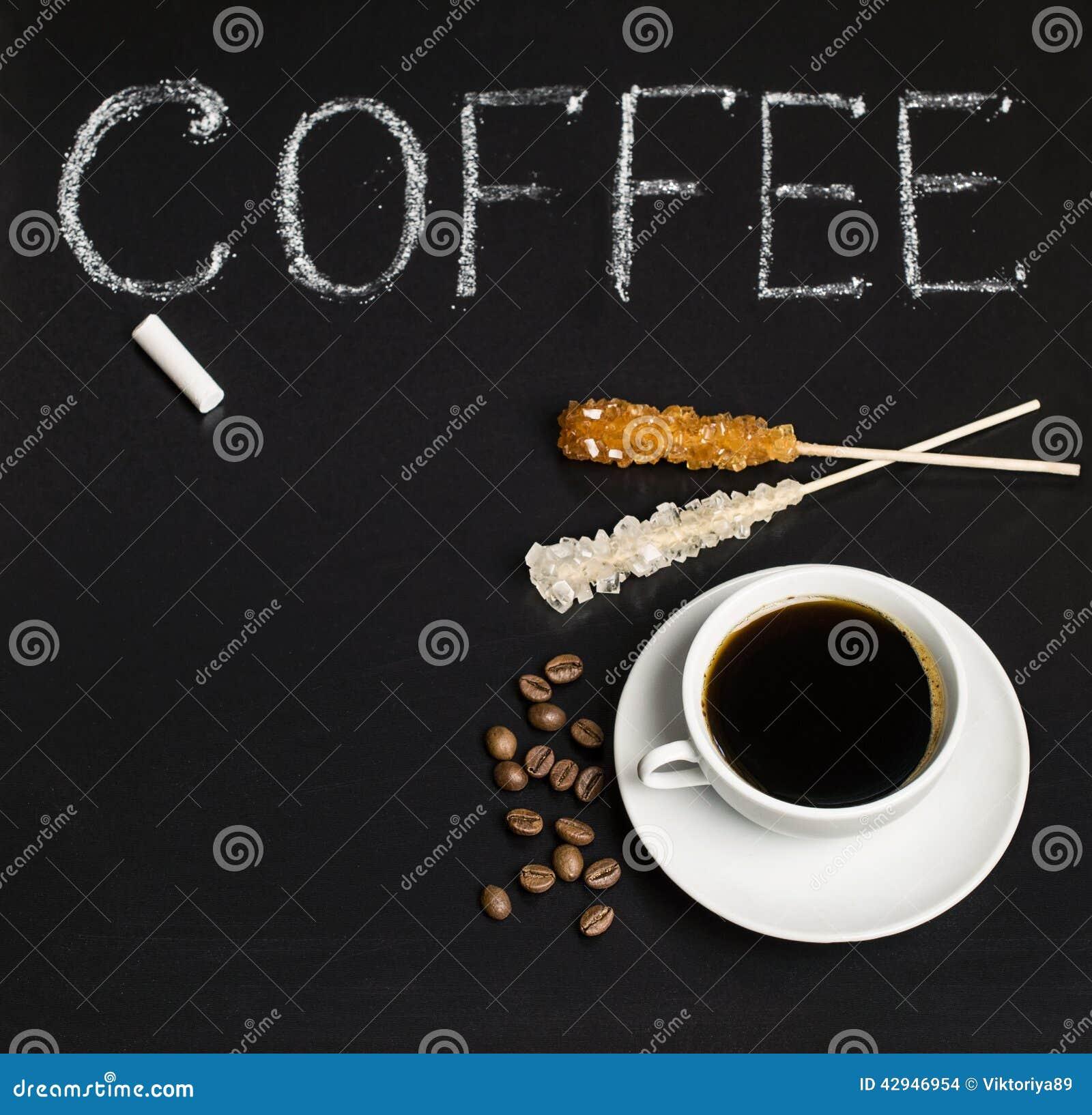 Lei met inschrijving en koffie