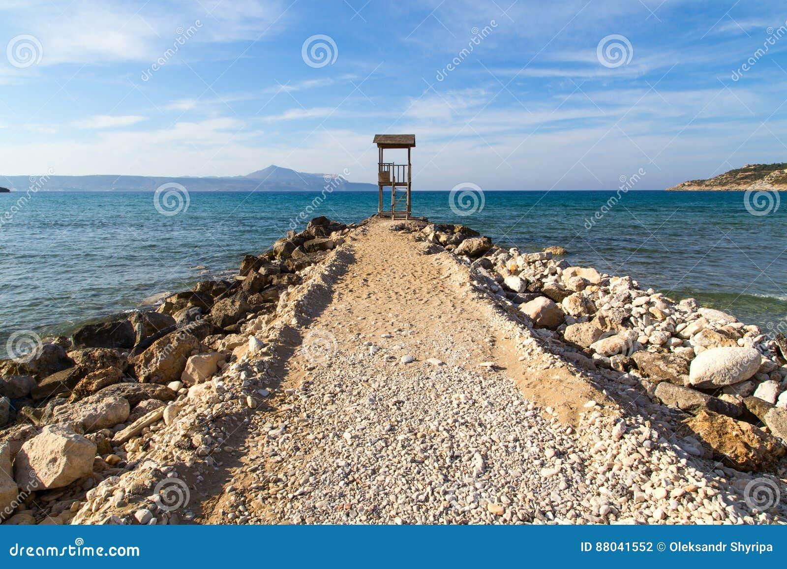 Leibwächterhütte auf dem Meer