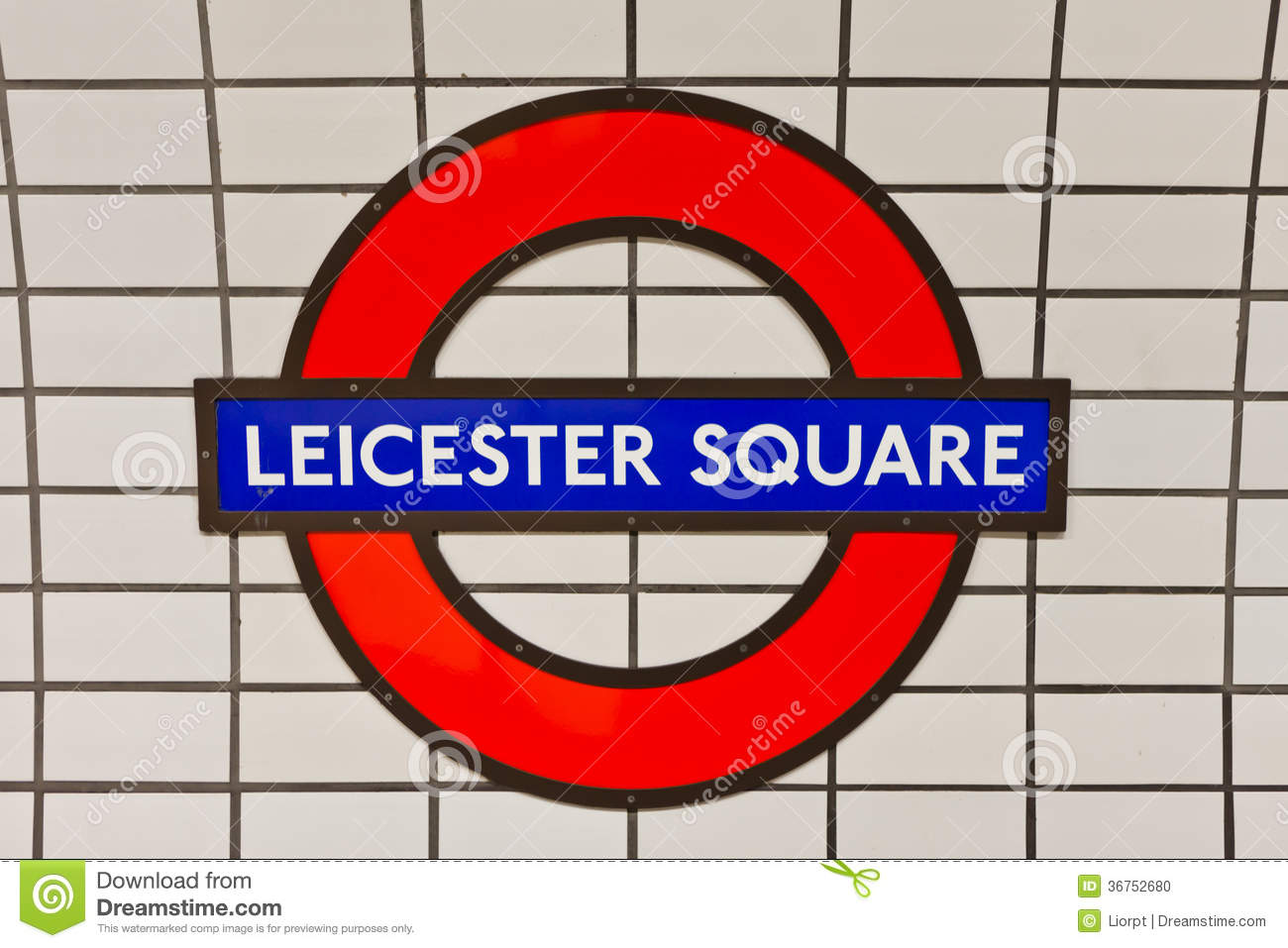 Leicester Square Tube Sign Editorial Image Image Of Tube 36752680