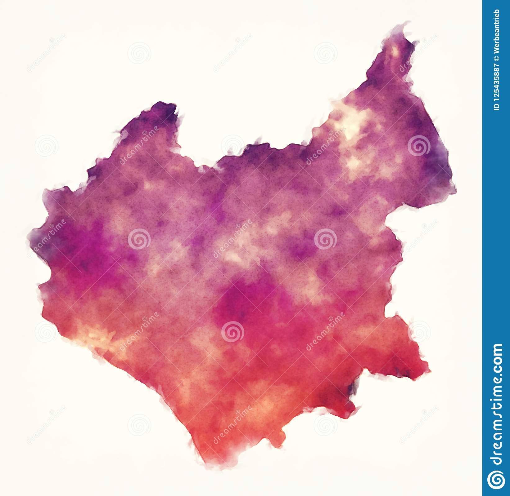 Leicestershire Uk Map.Leicestershire County Map England Uk Watercolor In Front Of A White