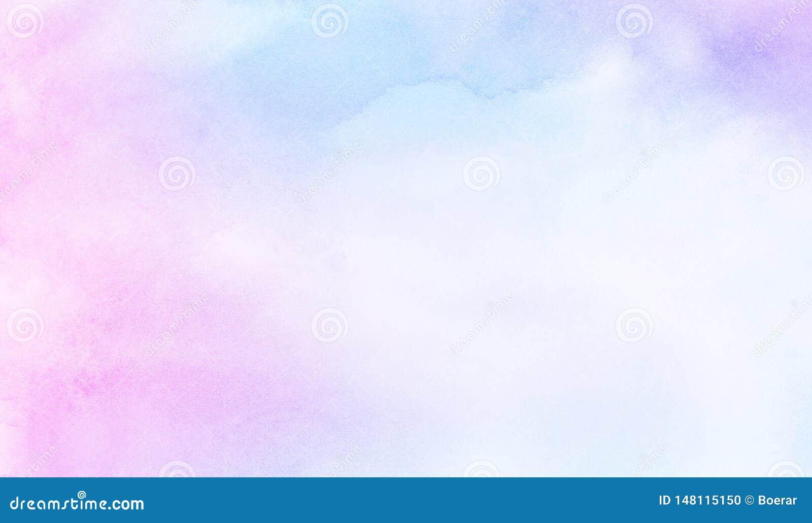 Leichter blauer, purpurroter und rosa Schattenaquarellhintergrund für Weinlesekarte, Retro- Schablone