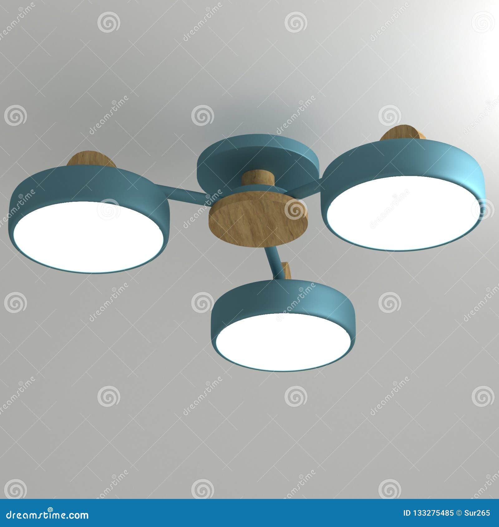 LEIDENE kroonluchter in de Skandinavische stijl met het draaien van lichten