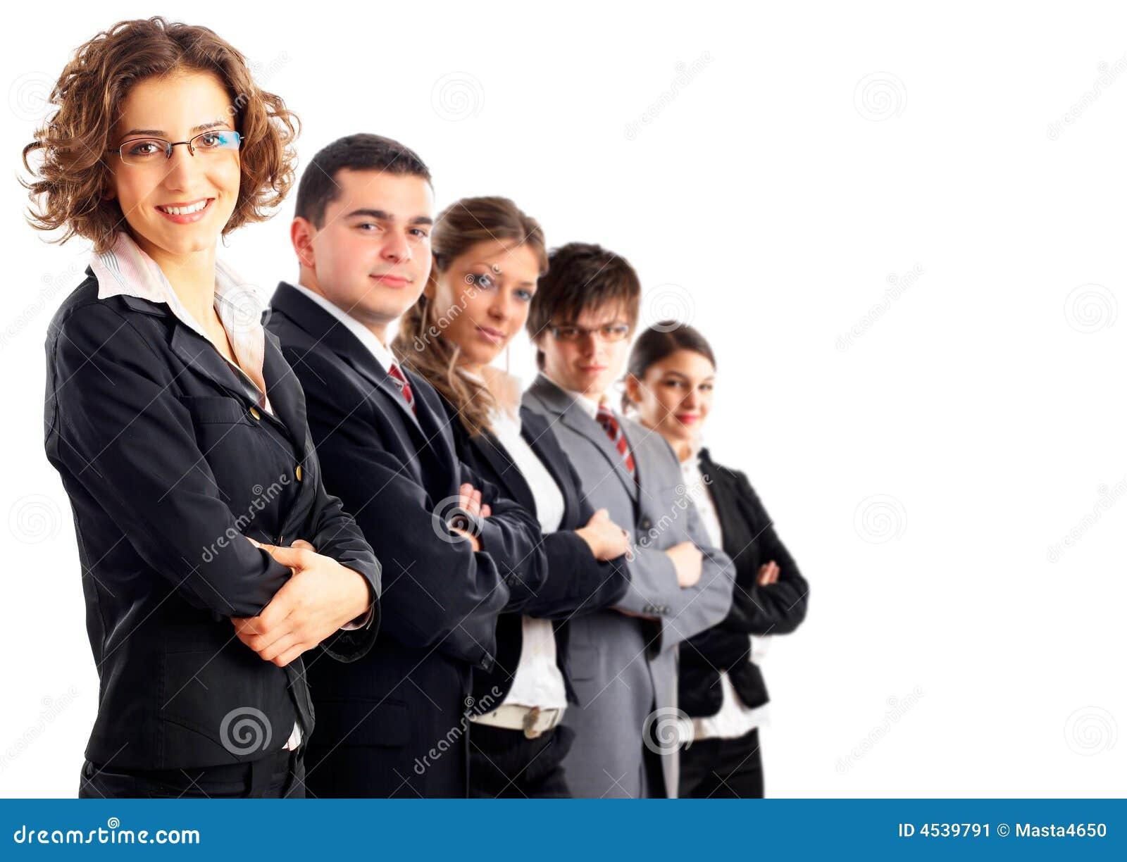 Leider en haar team