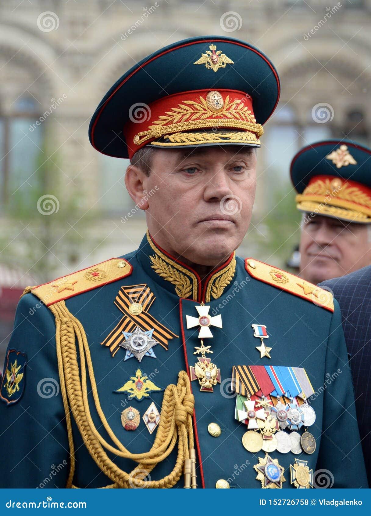 Leider van het Algemene personeel van Russische de defensieminister van de Strijdkrachten– eerste Afgevaardigde, leger Algemeen