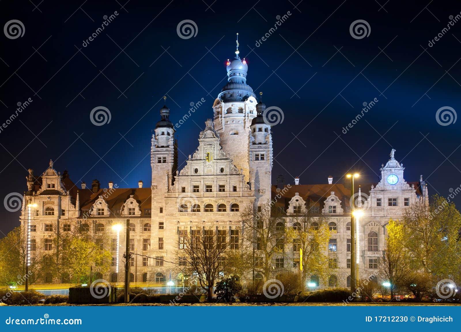 Leipzig bij nacht