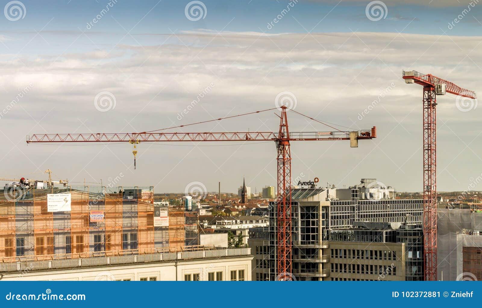 Leipzig, Saksen, Duitsland - Oktober 21 2017: Mening over de stad c