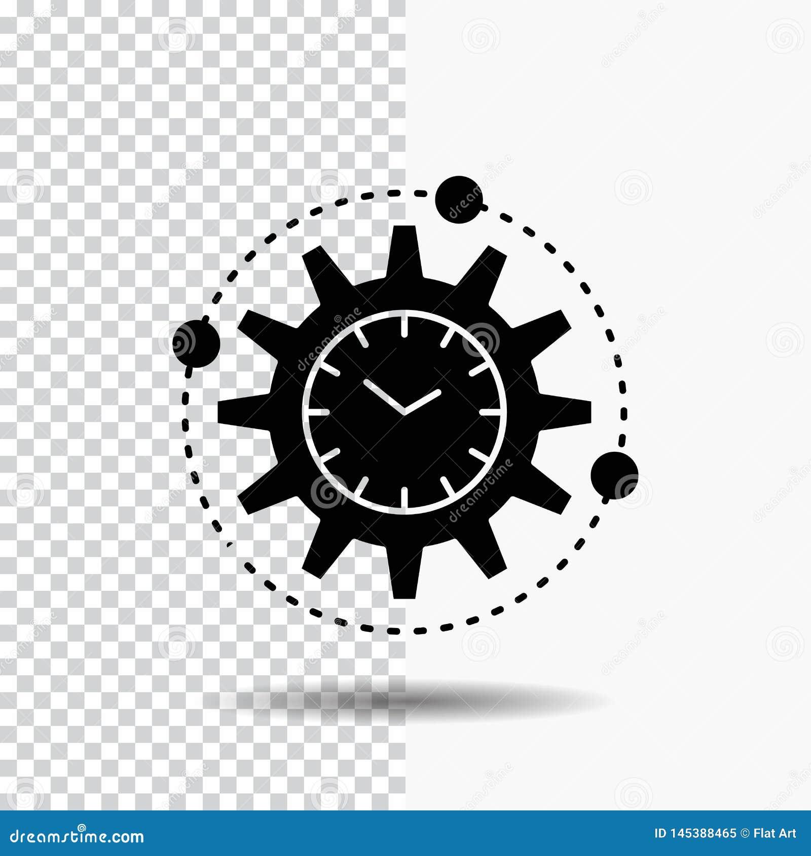 Leistungsfähigkeit, Management, verarbeitend, Produktivität, Projekt Glyph-Ikone auf transparentem Hintergrund Schwarze Ikone