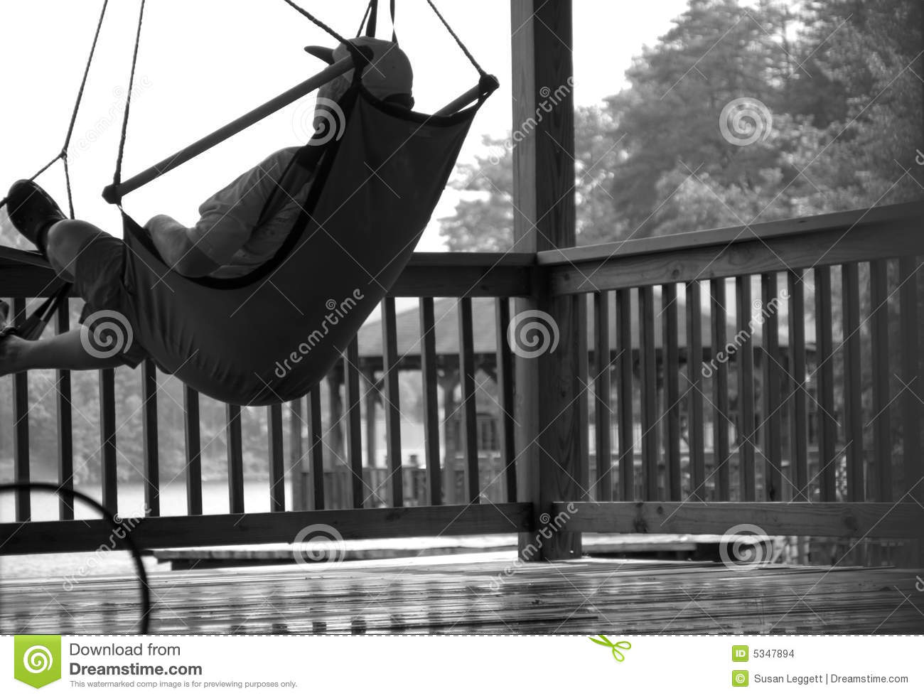 Leisure/Man Relaxing on Deck