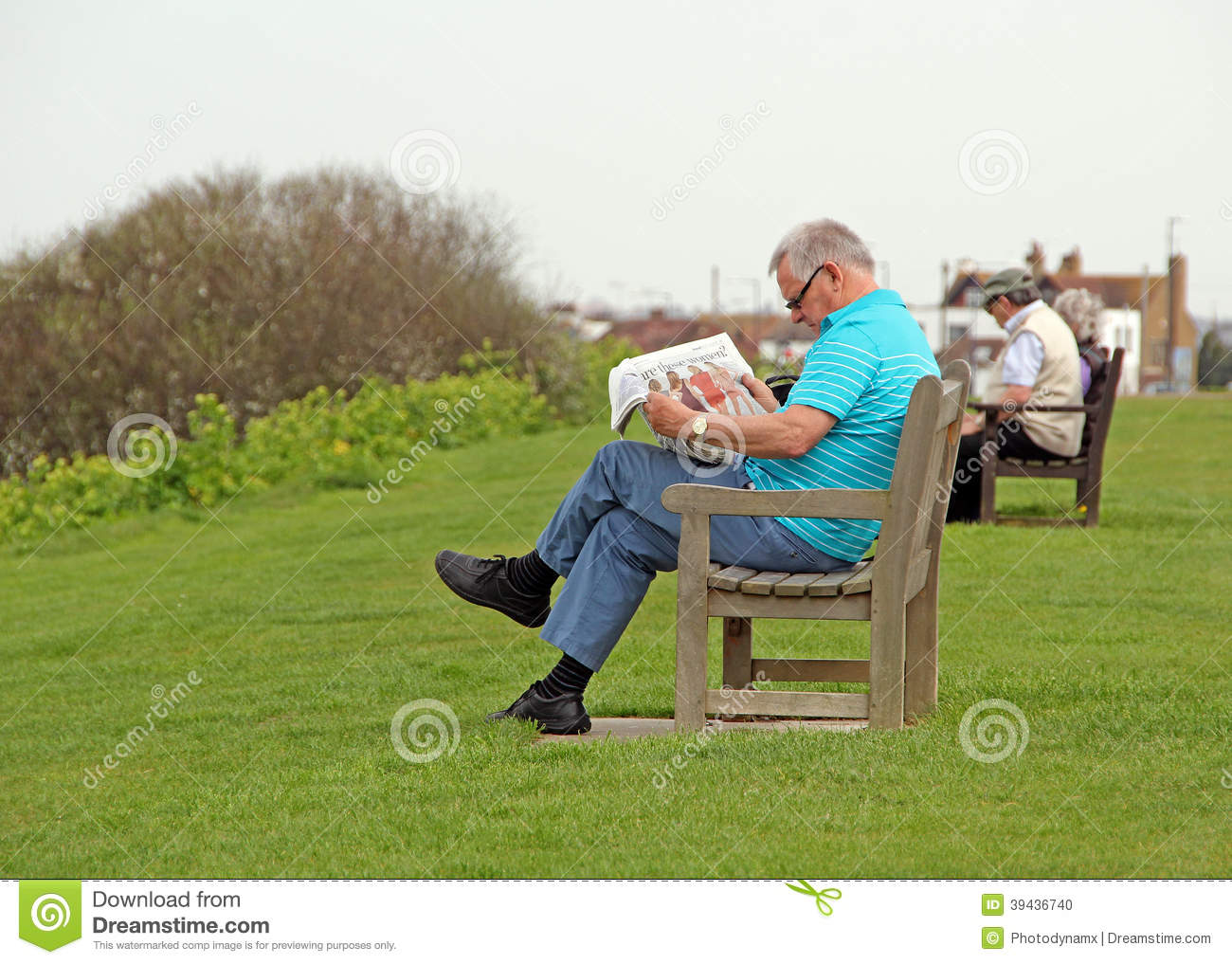 Leisure Time On The Park Benches Editorial Image - Image ...