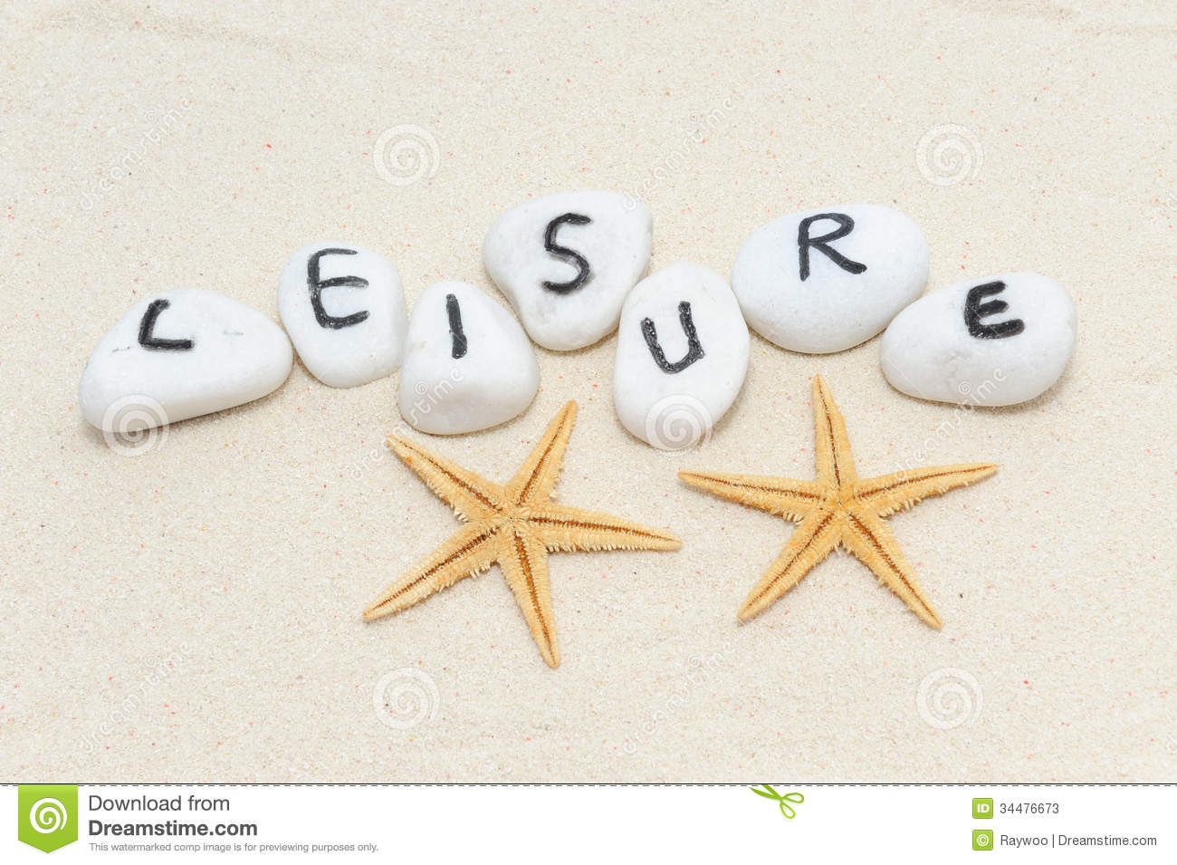 Stock Photos Leisure Word Group Stones Sand Background Decorated Two Sea Stars Image34476673 on Letter L 2