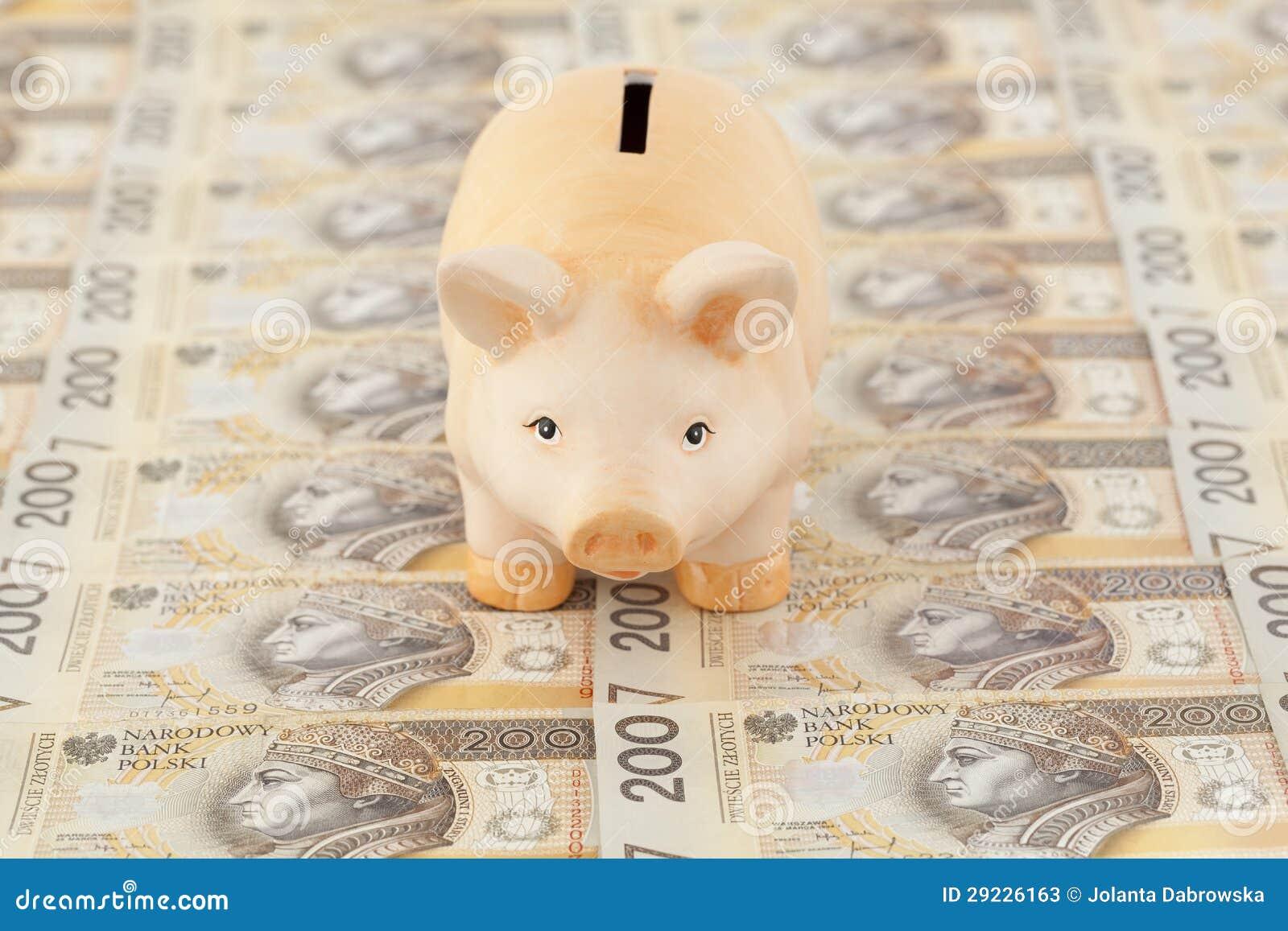 Download Leitão com dinheiro imagem de stock. Imagem de brinquedos - 29226163