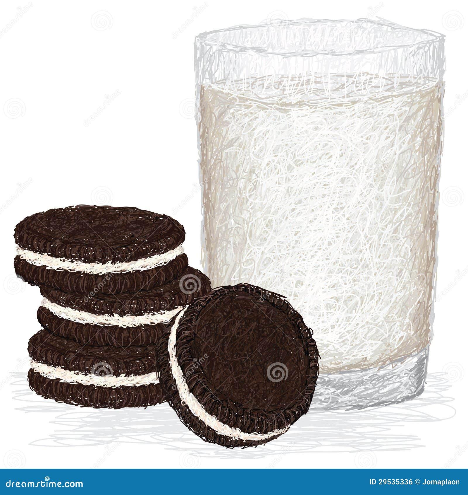 Leite e biscoitos