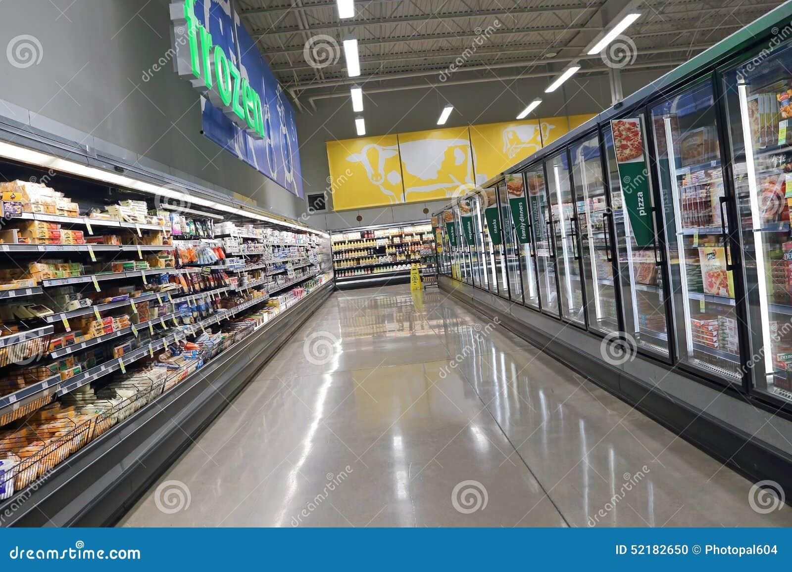 A leiteria e fozen o corredor do alimento nas economias em alimentos