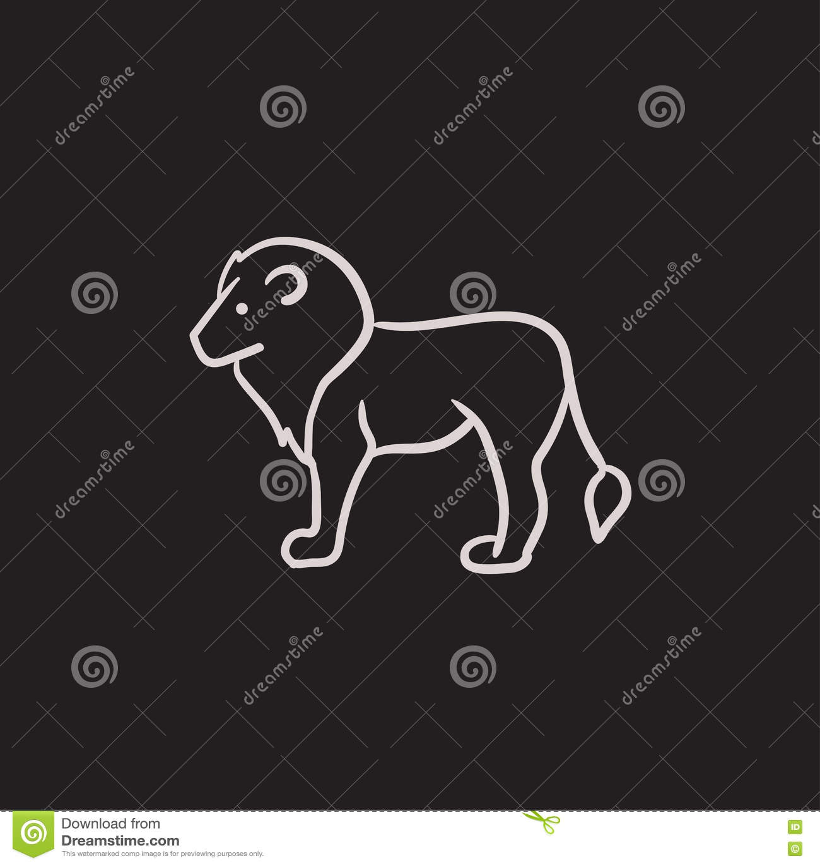 Lejonet skissar symbolen
