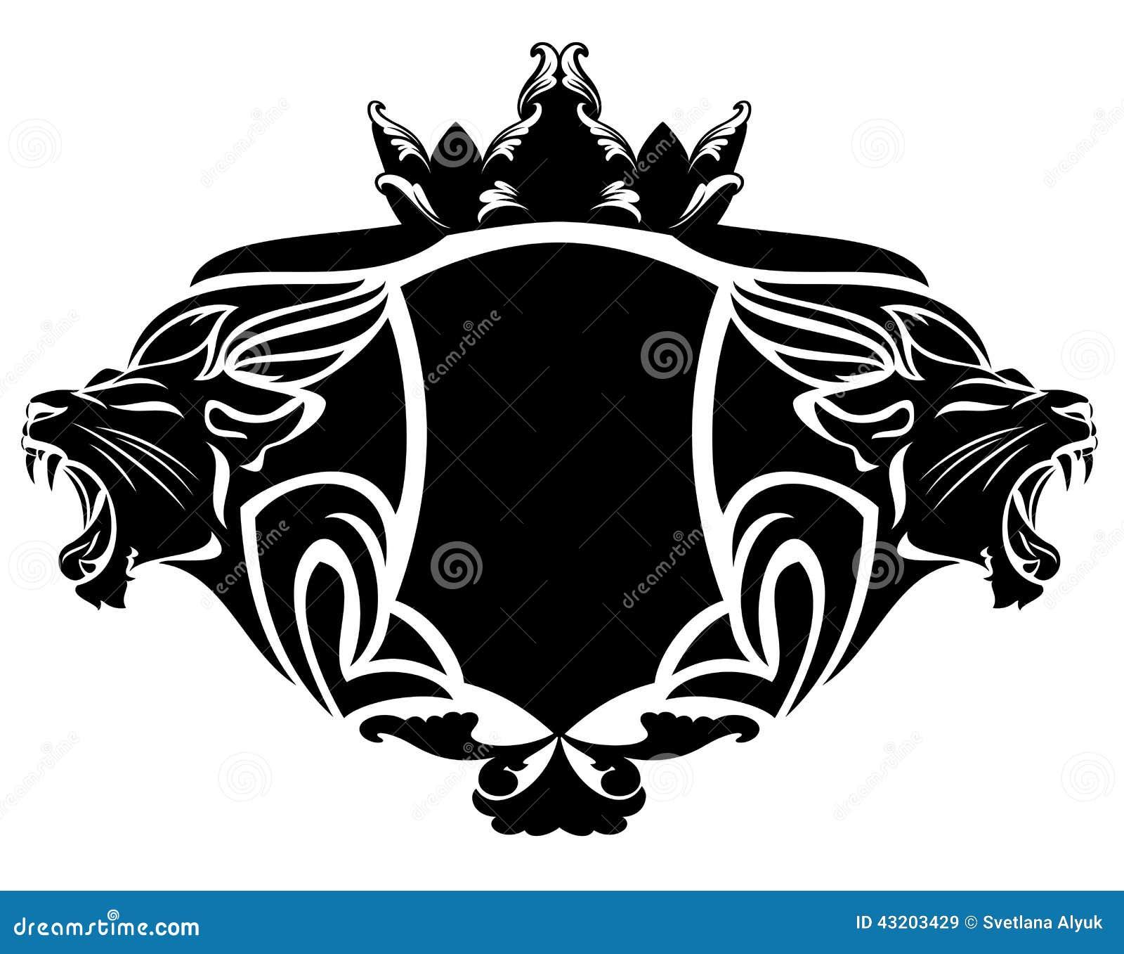 Download Lejonheraldik vektor illustrationer. Illustration av heraldiskt - 43203429