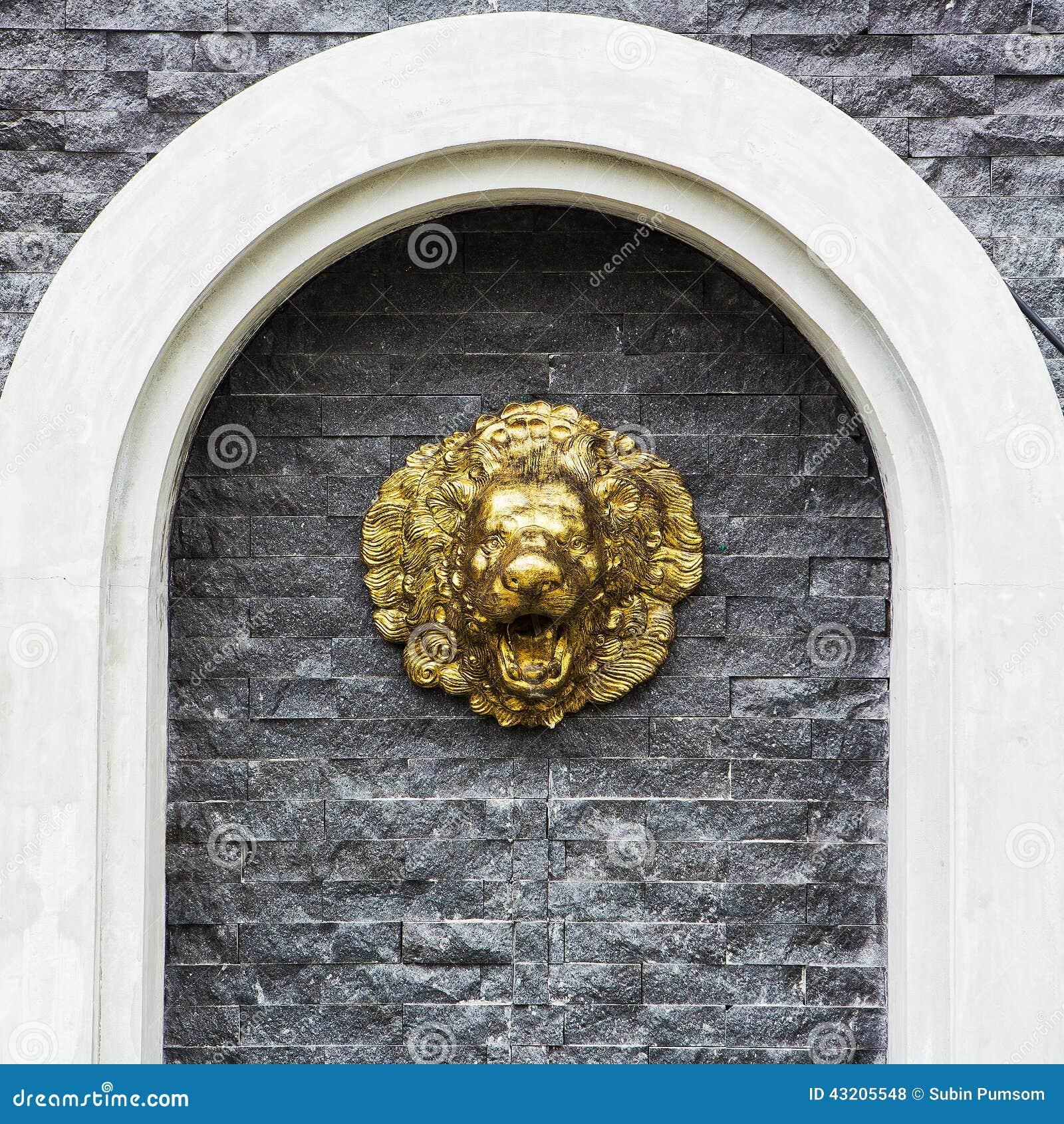 Download Lejonspringbrunn arkivfoto. Bild av huvud, lion, gammalt - 43205548