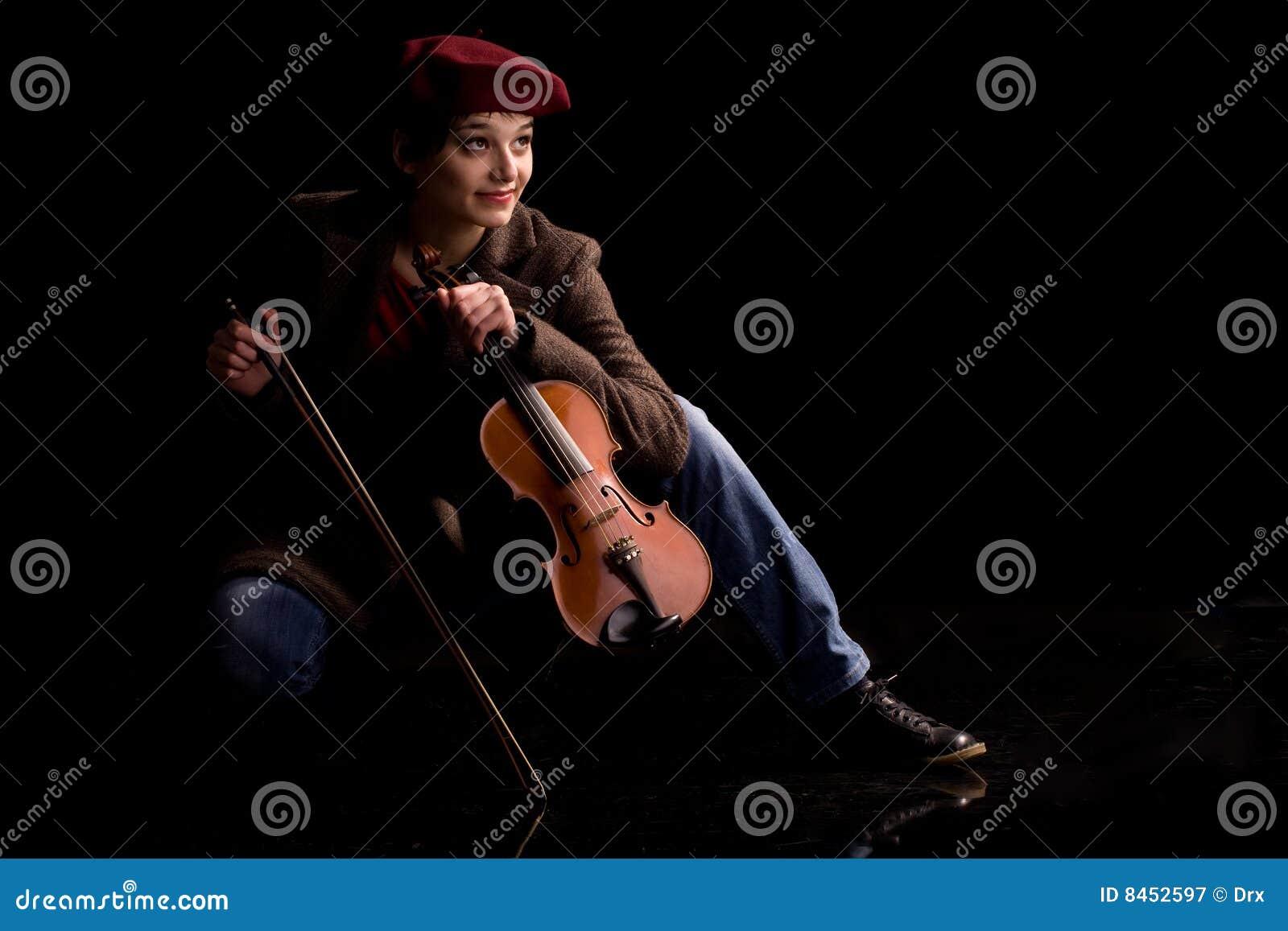 Leka fiol för flicka