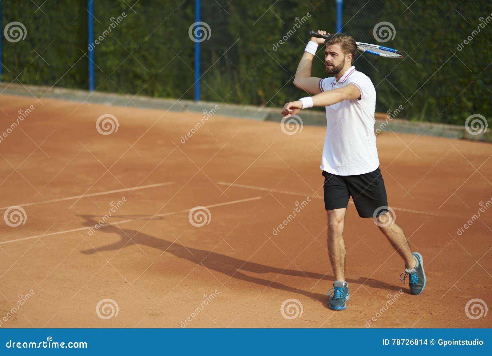Leka tennis för man