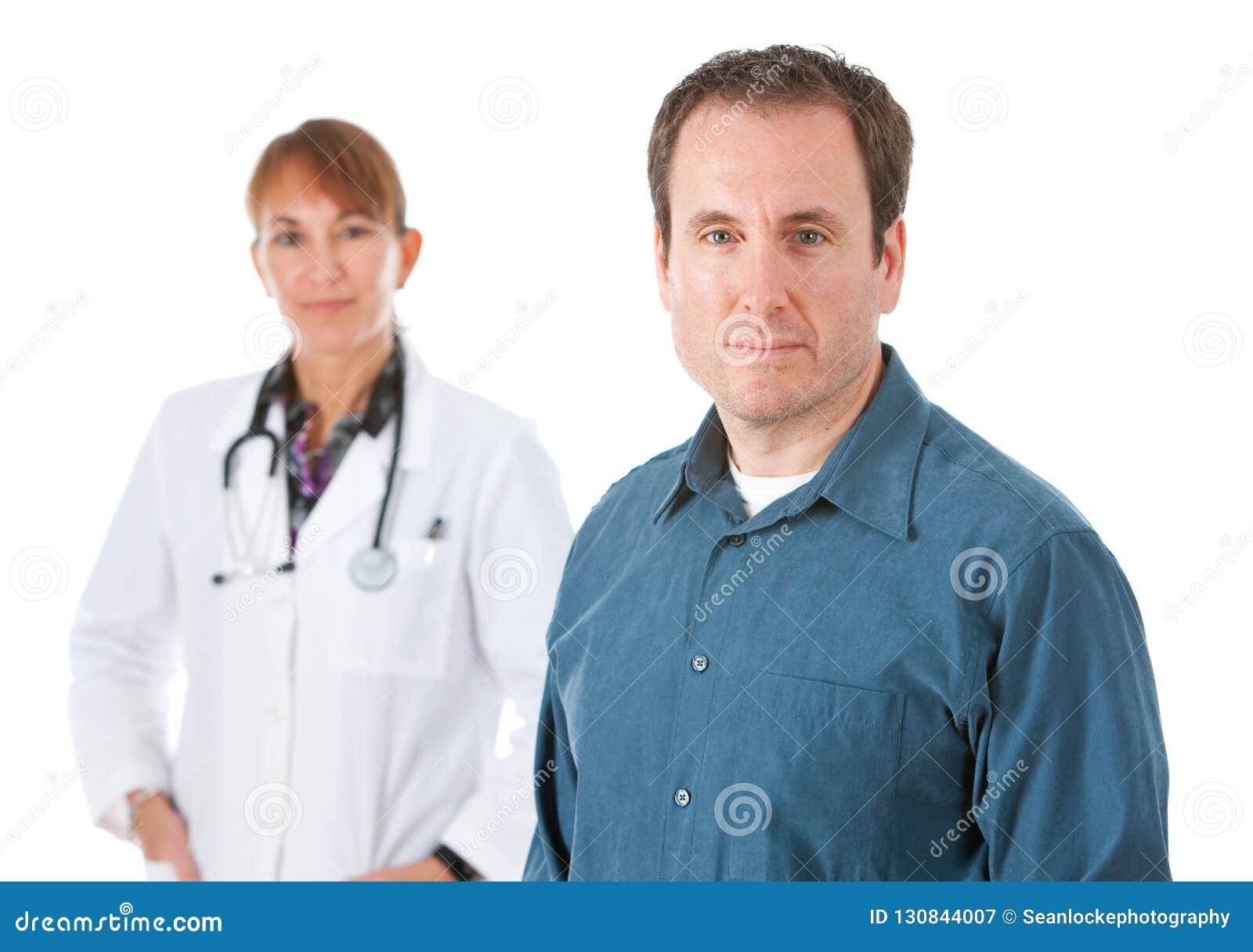 Lekarka: Poważny pacjent z lekarzem Za