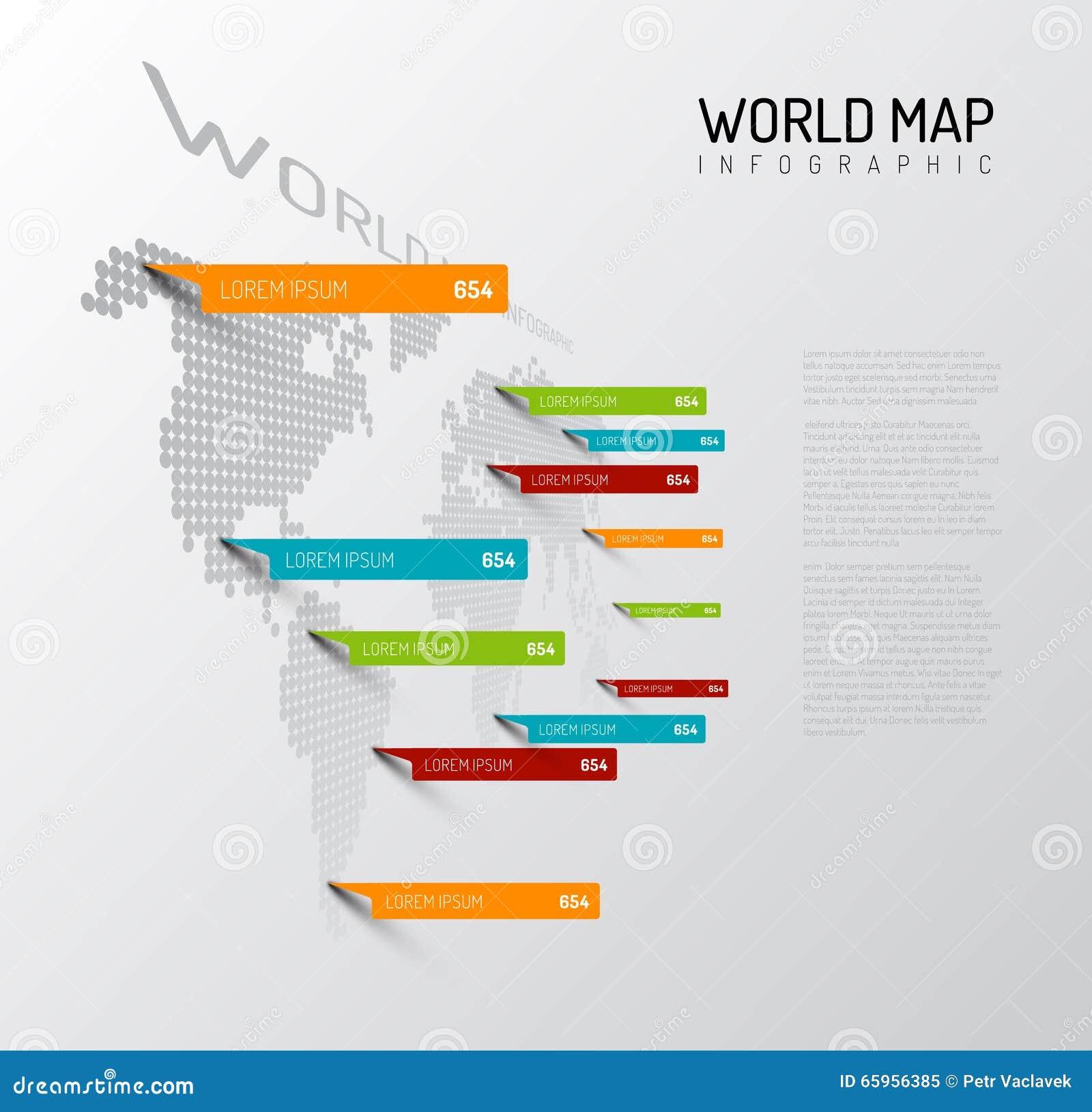 Lekka Światowa mapa z kropelka pointeru ocenami