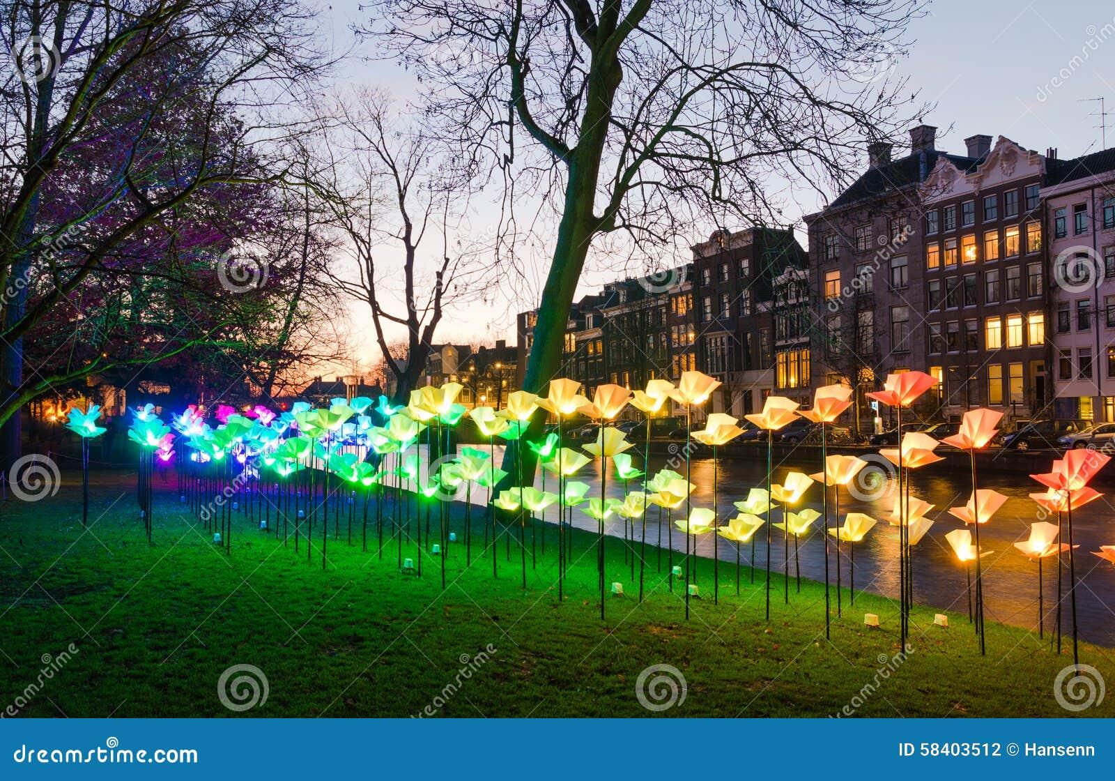 Lekki festiwal w Amsterdam