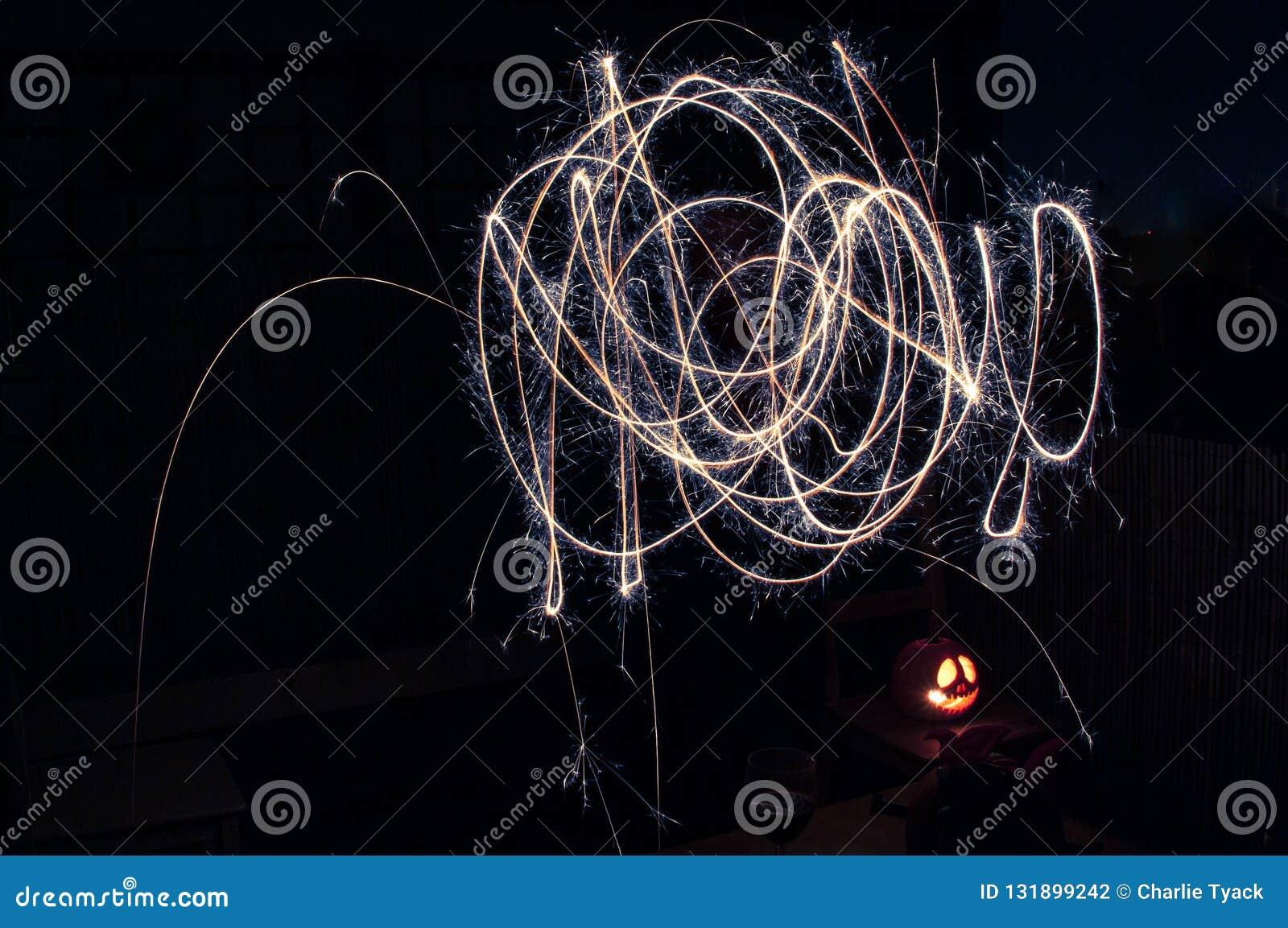 Lekki obraz z sparklers - squiggles w colour