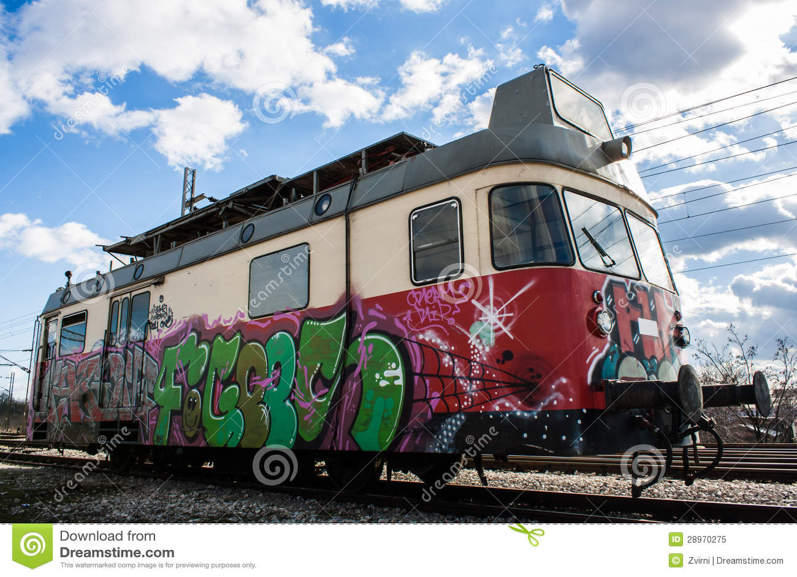 Lekki poręcza pociąg