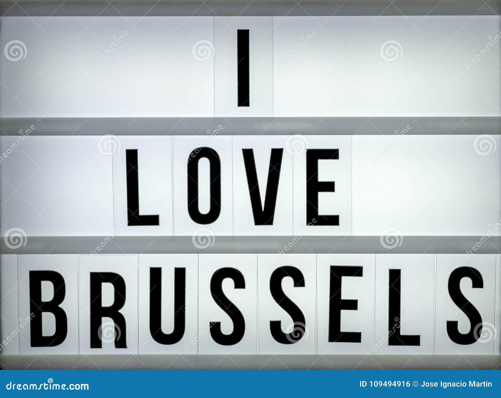 Lekki pudełko kocham Bruksela