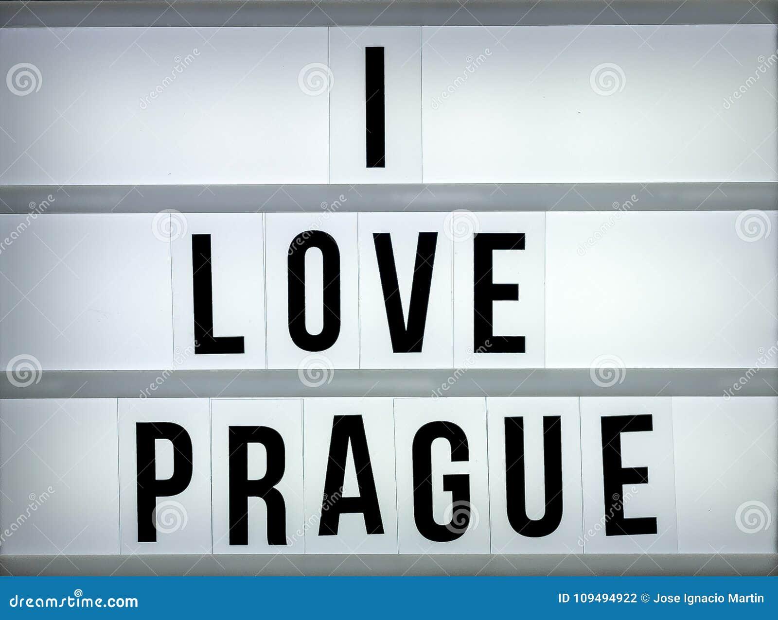 Lekki pudełko kocham Praga
