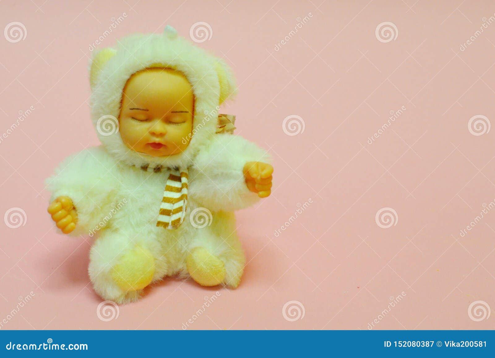 Leksak för flickan på rosa försiktig signal