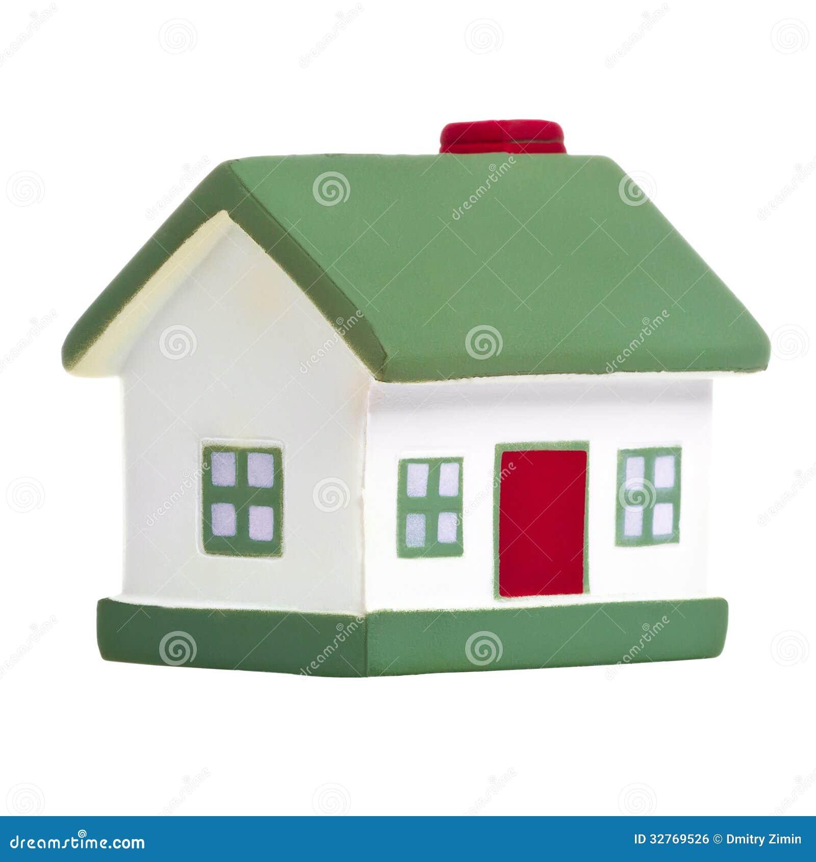 Leksakhus med det gröna taket