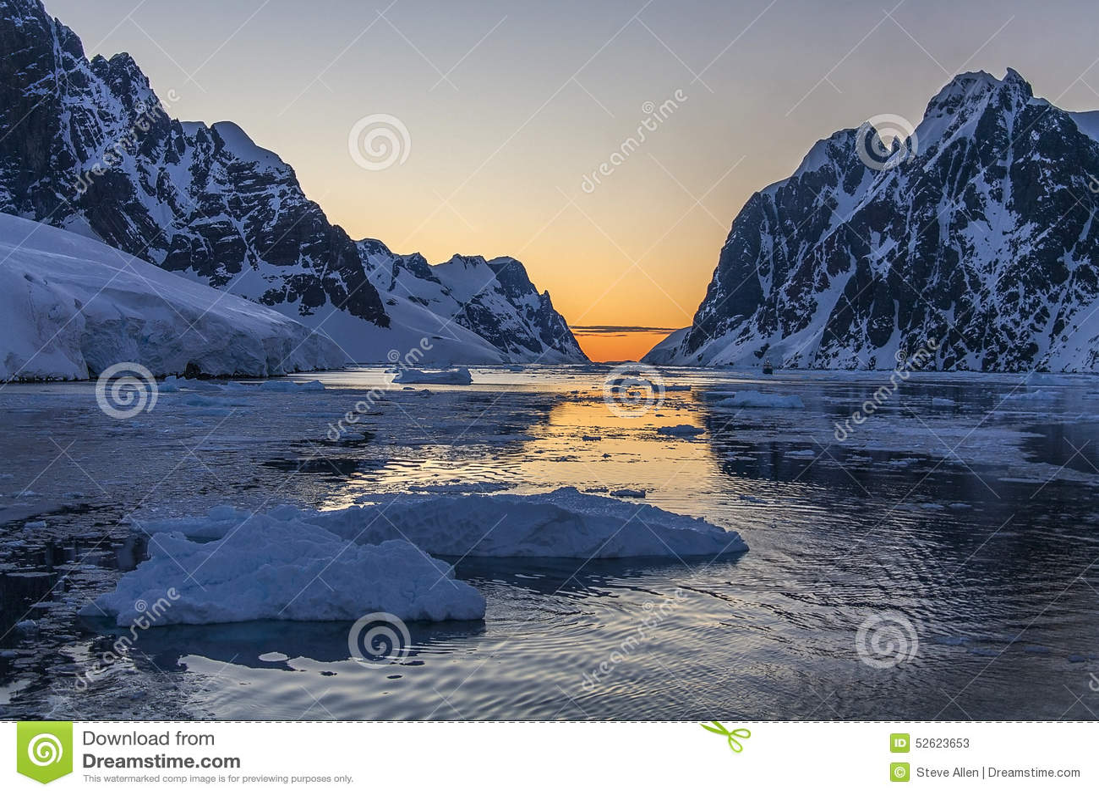 Lemaire海峡-南极洲