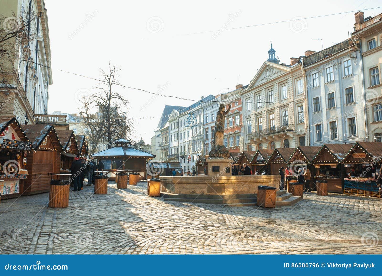 lemberg ukraine 1 januar 2017 weihnachten und neues. Black Bedroom Furniture Sets. Home Design Ideas