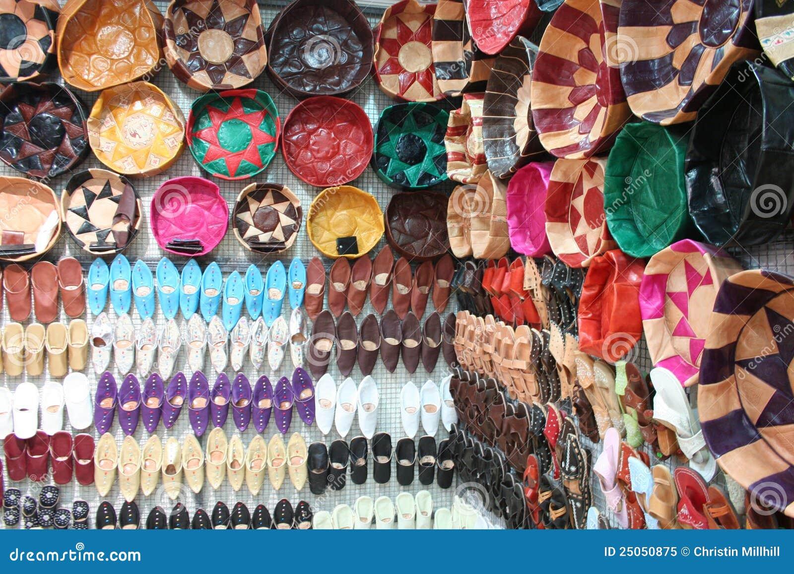 Lembranças de couro tunisinas