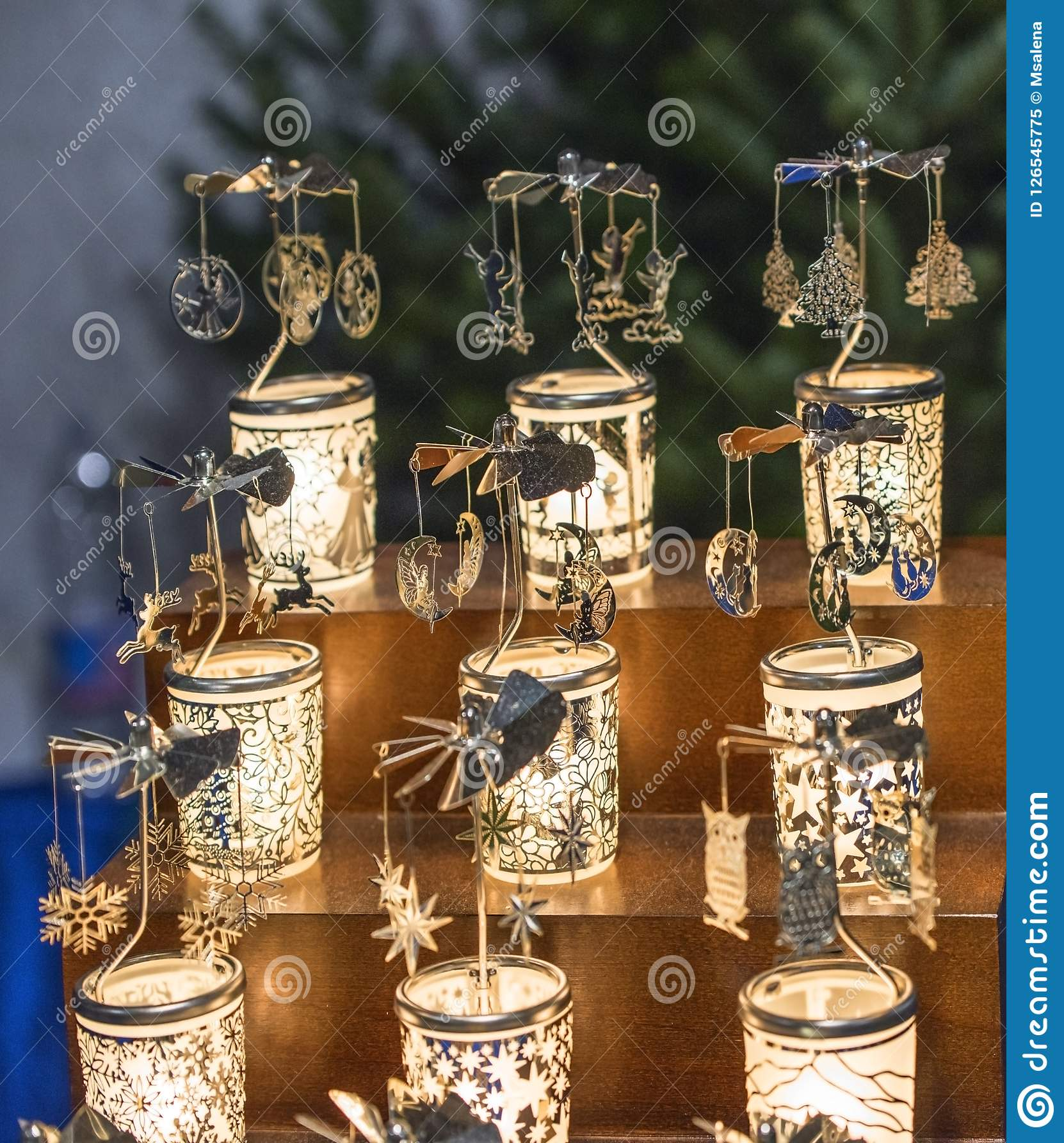 Lembranças de vidro na venda