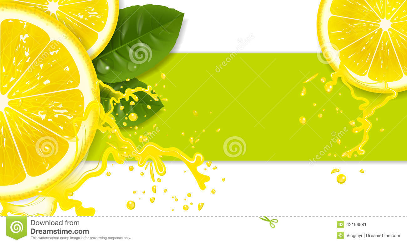 lemon background stock vector