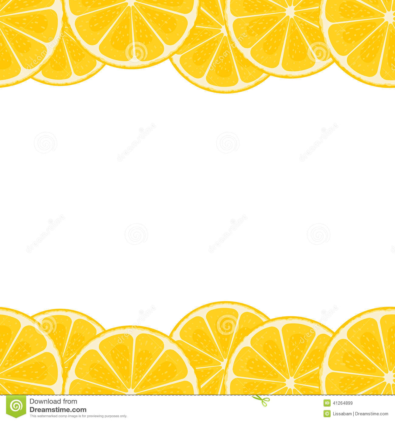 Lemon Border Stock Vector - Image: 41264899
