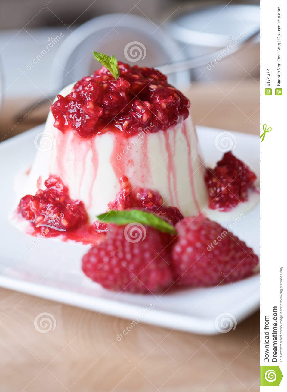 Buttermilk Panna Cotta With Raspberries Recipe — Dishmaps