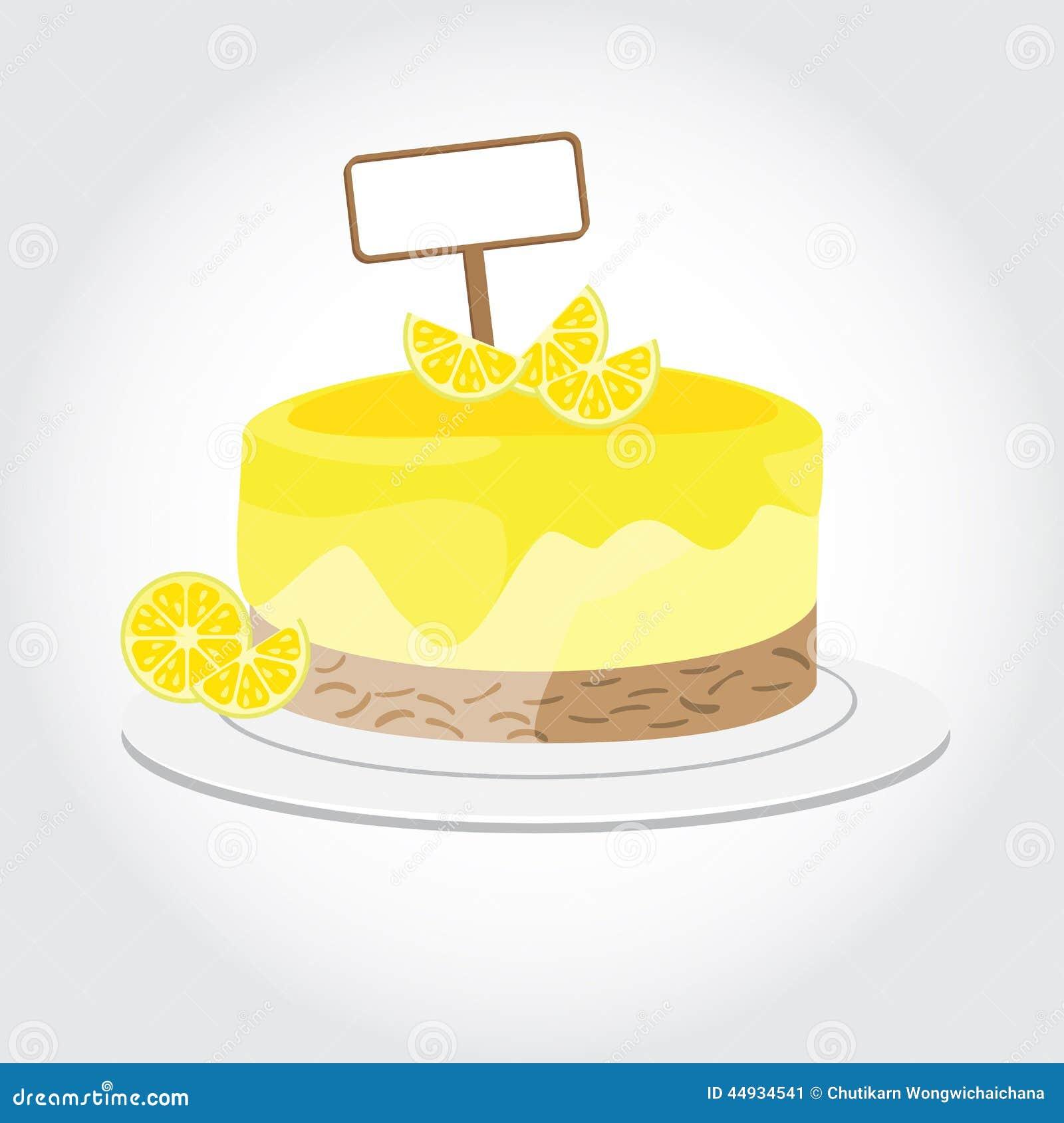 Lemon Cake Illustration 44934541 Megapixl