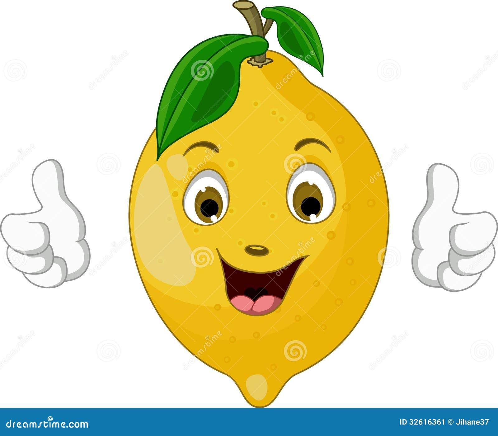 Lemon Cartoon Thumbs Up Stock Image - Image: 32616361 Wow Face Clip Art