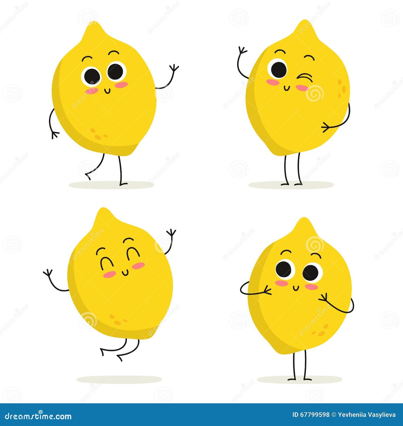 how to draw a cute lemon