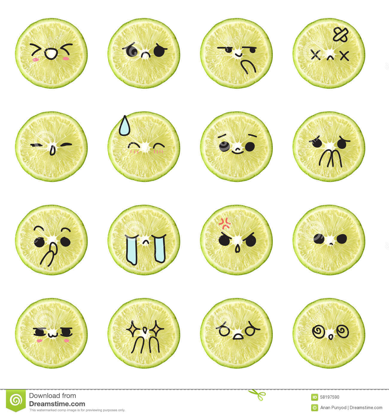 Line Drawing Smiley Face : Lemon emoticon face action cartoon cute to draw the line