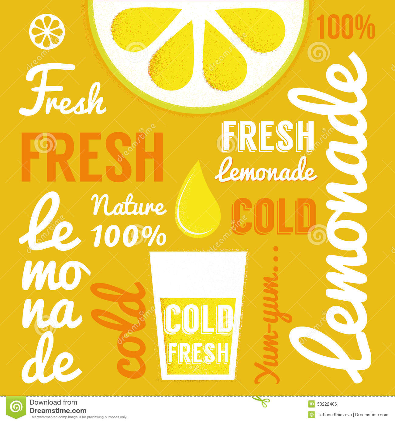 Lemonade Poster Stock Vector - Image: 39386498