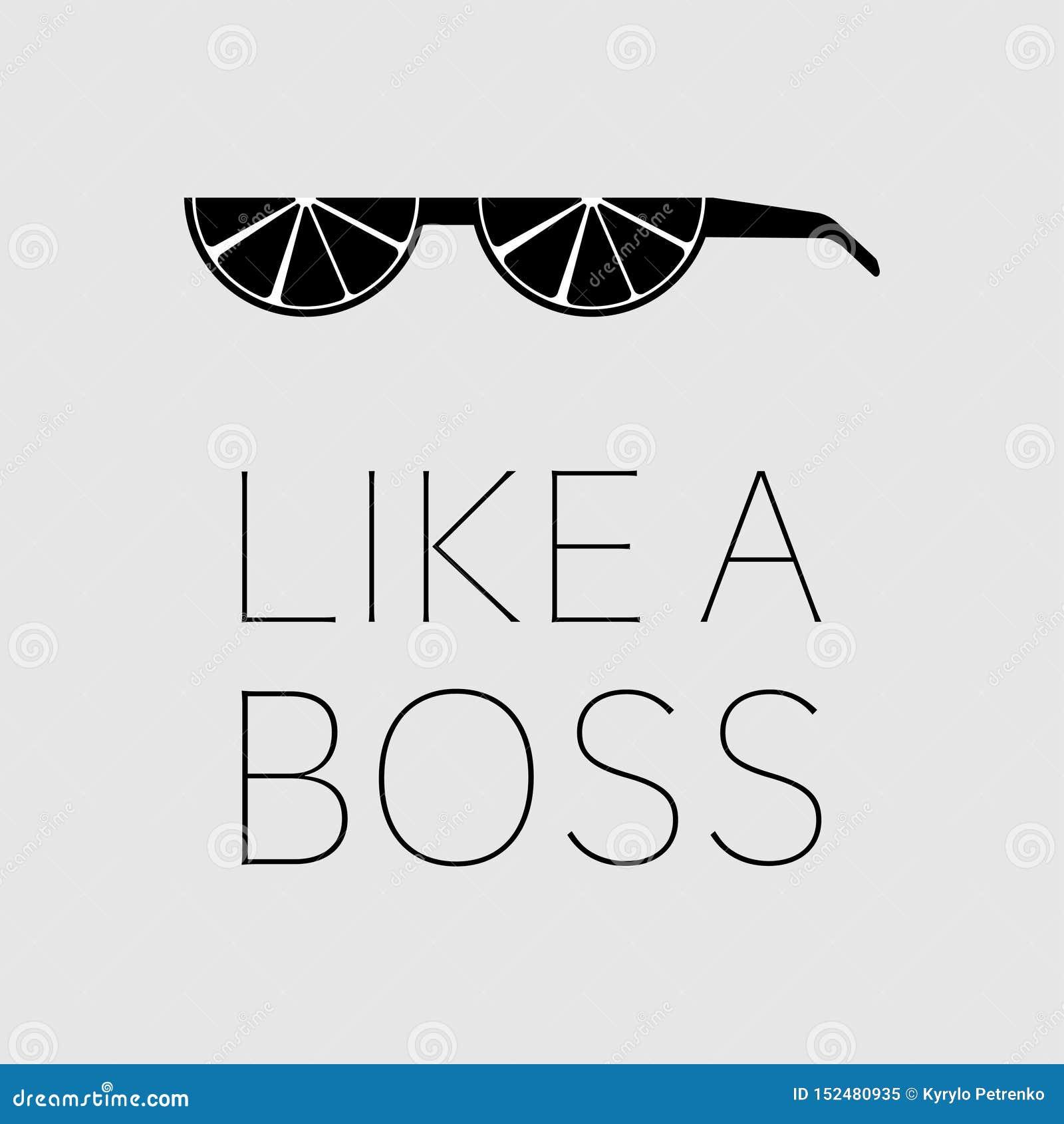 Lemon glasses like a boss black and white